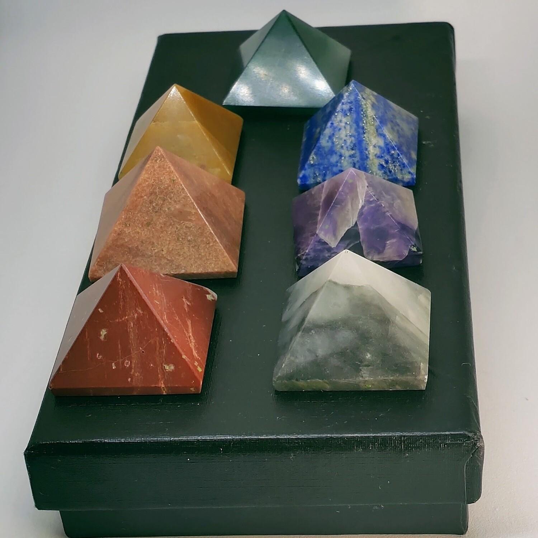 7 Chakra Pyramids Set