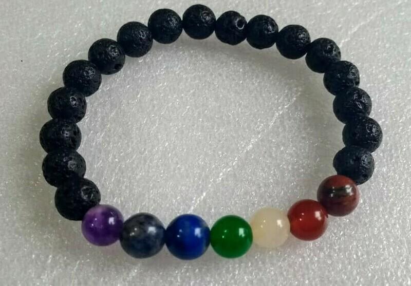 Lava 7 Chakra Bracelet
