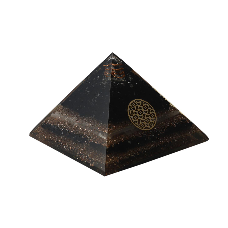 Black Tourmaline& Selenite Orgon Pyramid