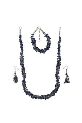 Lapis Lazuli Chips Necklace Set