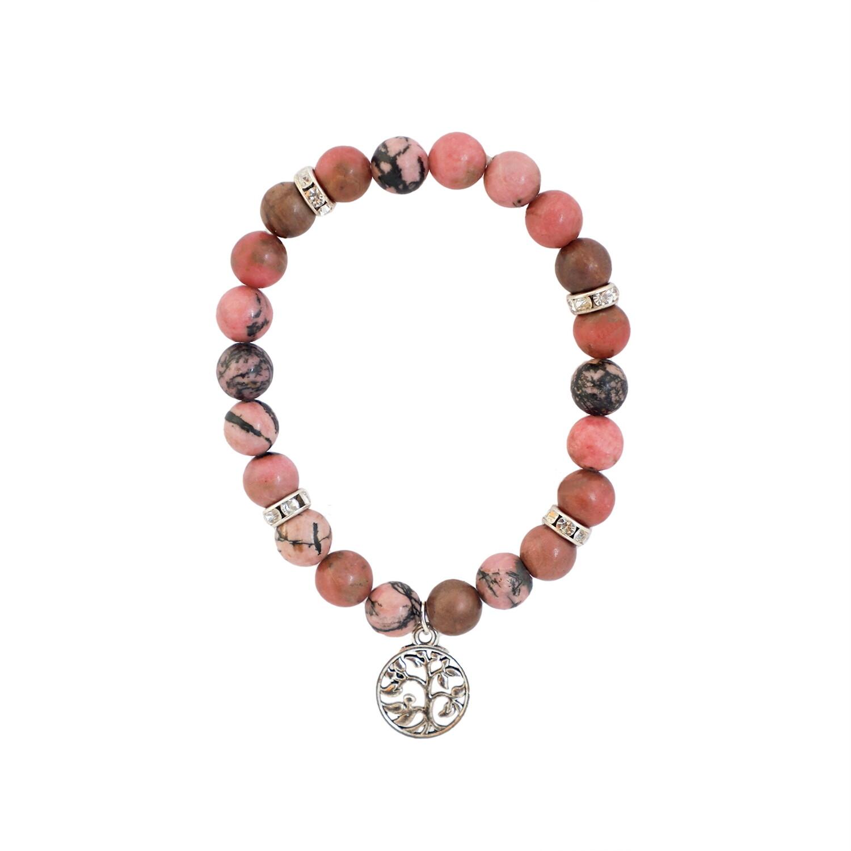 Rhodonite Bracelet (with charm)