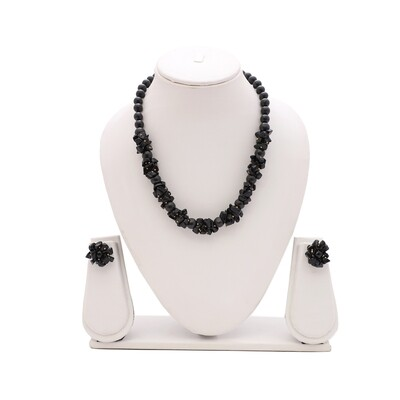 Black Agate Necklace Set