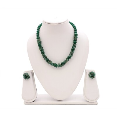 Green Aventurine Necklace Set