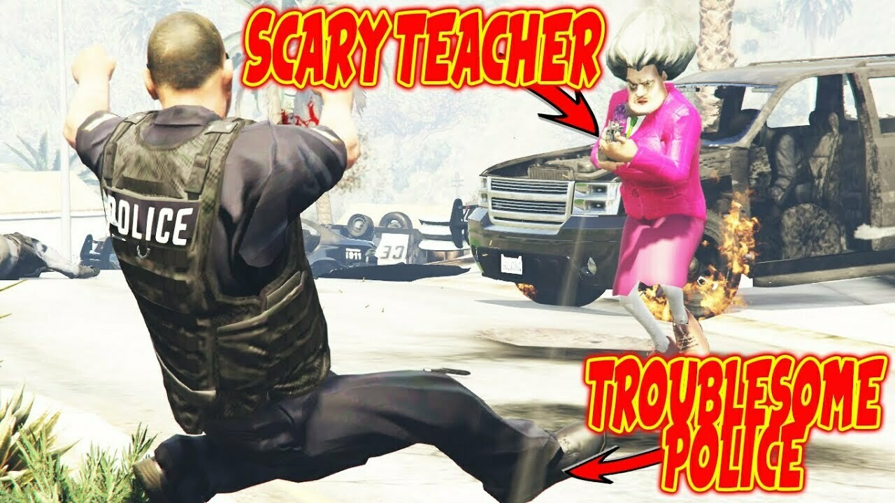Scary teacher {GTA5 MODS}