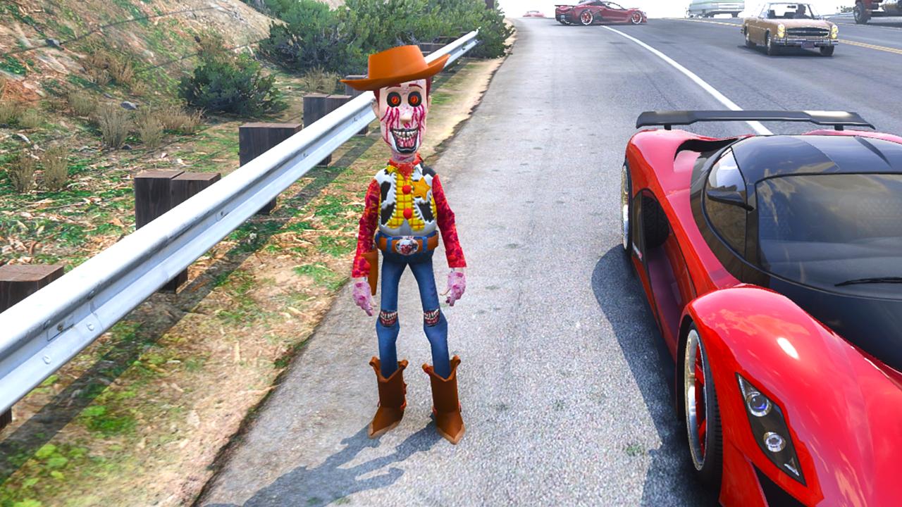 Creepy Woody AddOn Ped Horror Mod {GTA5 MODS}