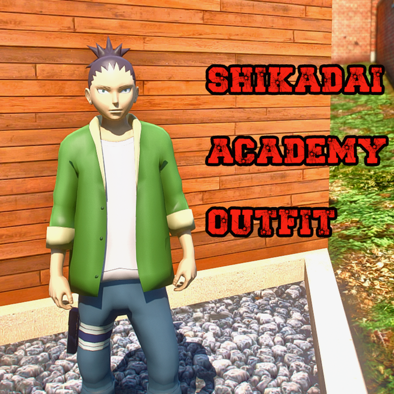 SHIKADAI ACADEMY OUTFIT AND GENIN OUTFIT 2 IN 1 COMBO PACK   ADDON PED NARUTO [ GTA 5 ]