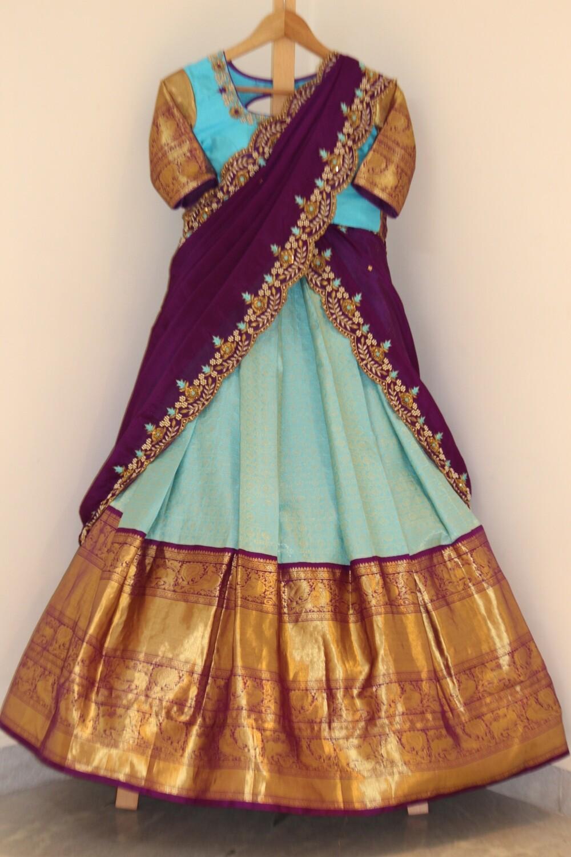 Bridal Kanchi Pattu Langa
