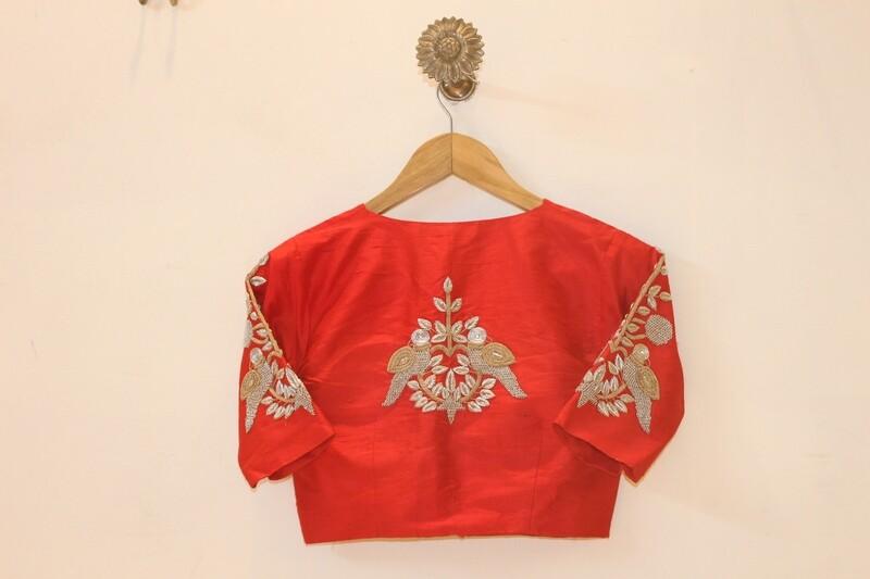 RawSilk Red Bridal Blouse