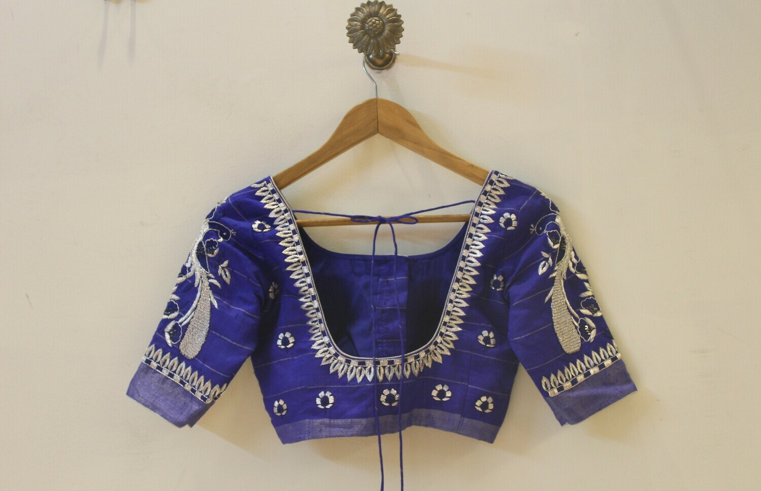 Blue Bridal Blouse