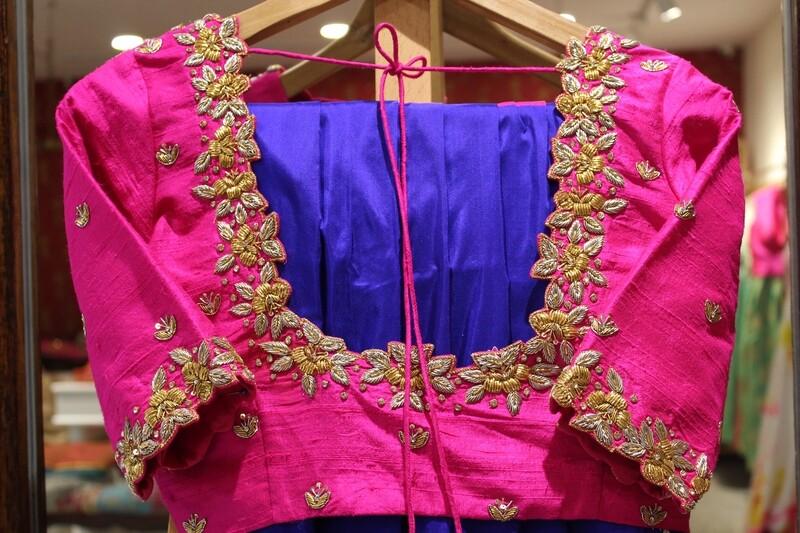 Pink Rawsilk Bridal Blouse