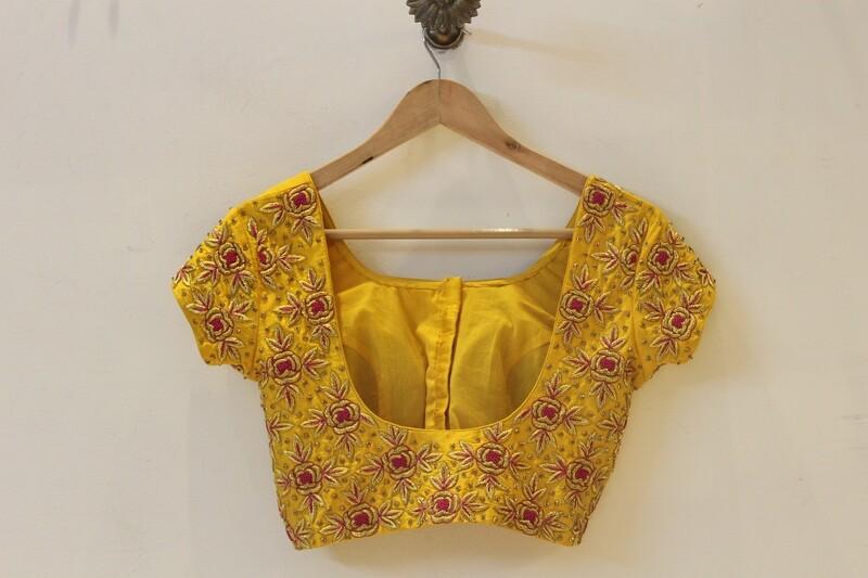 Yellow Bridal Blouse