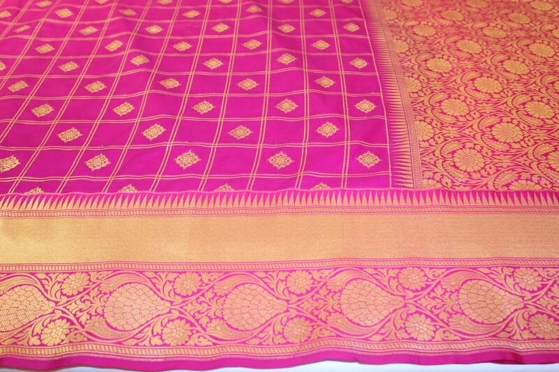 Handloom Pink Pure Silk Saree