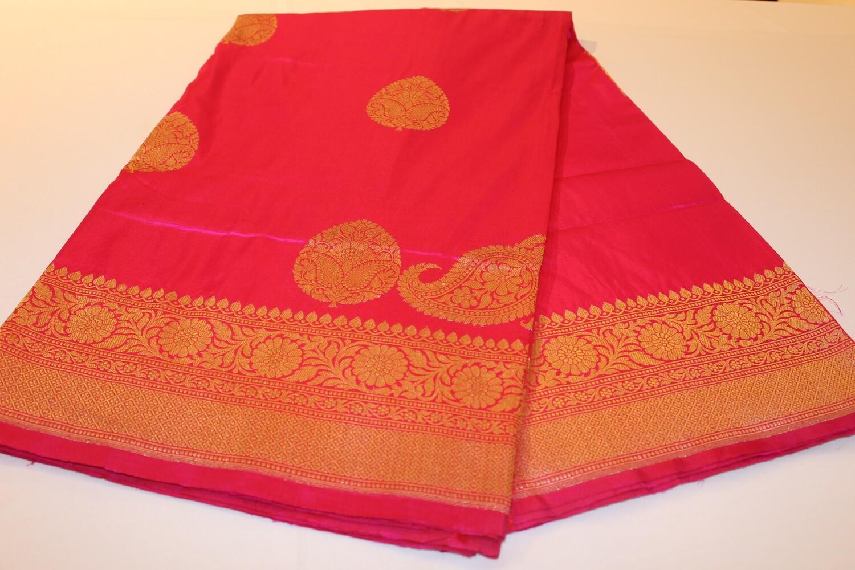 Koniya Kairi Rani Pink Pure Silk Banarasi Handloom Saree