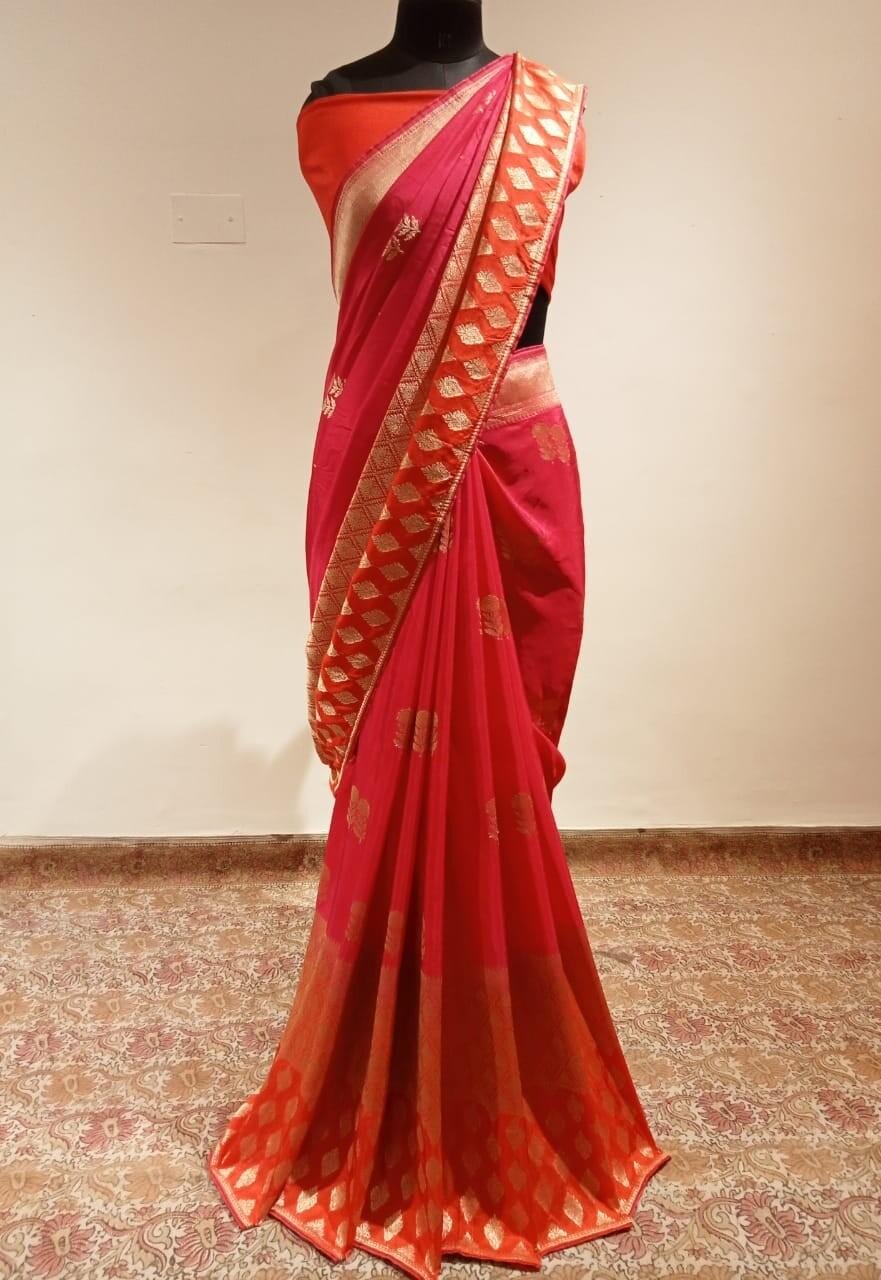 Crepe Silk Banaras Saree 07
