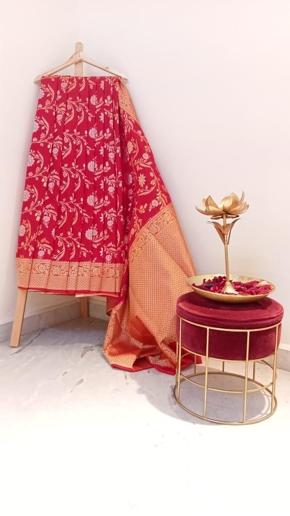 Banaras Red saree