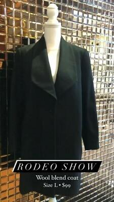 Rodeo Show, Wool Blend Coat, Size L