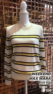 Weekend Max Mara, Knit Top, Size 2