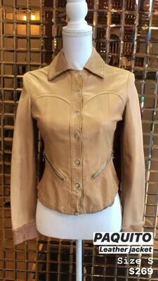 Paquito, Leather Jacket, Size S