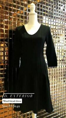 D. Exterior, Wool Blend Dress, Size S