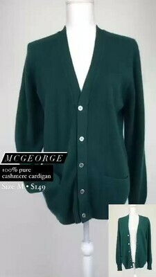 McGeorge, 100% Pure Cashmere Cardigan, Size M