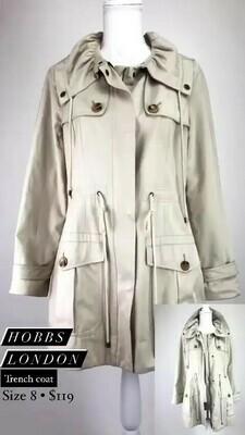 Hobbs London, Trench Coat, Size 8