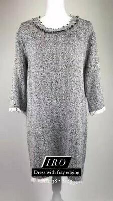 IRO, Dress With Frey Edging, Size 38