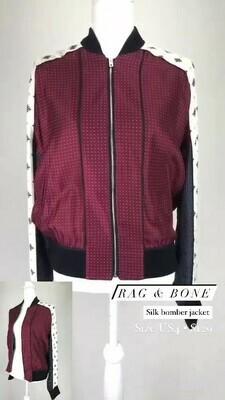 Rag & Bone, Silk Bomber Jacket, Size US4