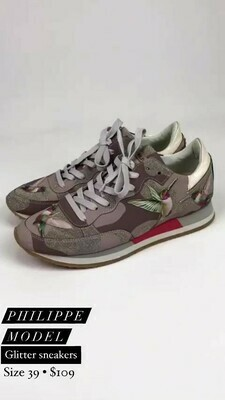 Phillippe Model, Glitter Sneakers, Size 39