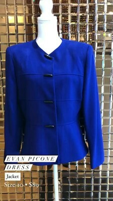 Evan Picone Dress, Jacket, Size 10