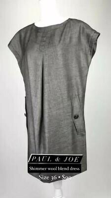 Paul & Joe, Shimmer Wool Blend Dress, Size 36