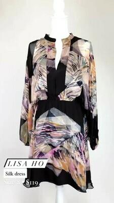 Lisa Ho, Silk Dress, Size 8