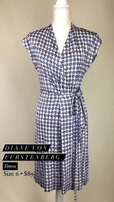 Diane Von Furstenberg, Dress, Size 6