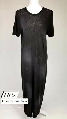 IRO, Linen Maxi Tee Dress, Size XS