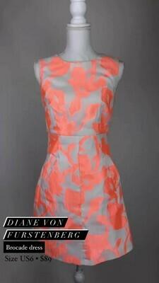 Diana Von Furstenberg, Brocade Dress, Size US6