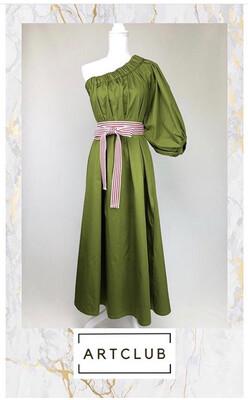 Artclub, Green Dress, One Size