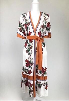 Sandro Silk Crepe Wrap Dress