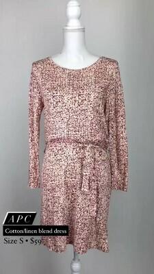 APC, Cotton/Linen Blend Dress, Size S