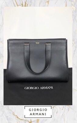 Giorgio Armani Black Tote Bag
