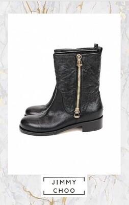 Jimmy Choo, Biker Boots, Size 38.5
