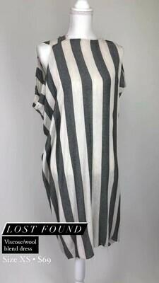 Lost Found, Viscose/Wool Blend Dress, Size XS