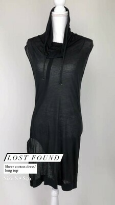 Lost Found, Sheer Cotton Dress/Long Top, Size S