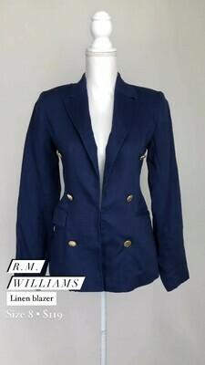 R.M. Williams, Linen Blazer, Size 8