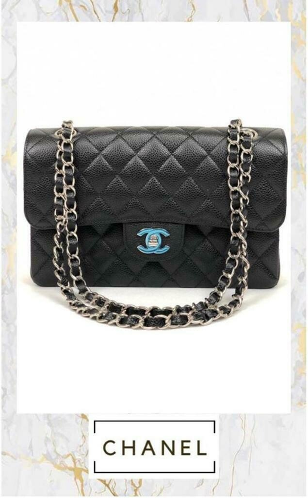 Chanel Quilted Caviar Small Classic Double Flap Bag