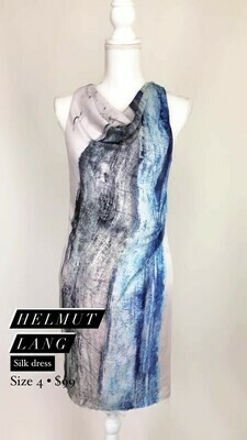 Helmut Lang, Silk Dress, Size 4