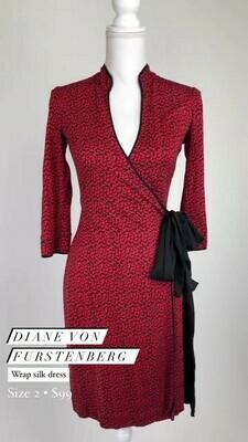 Diane Von Furstenberg, Wrap Silk Dress, Size 2