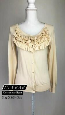Inwear, Cotton Cardigan, Size XS/S