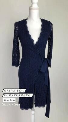 Diane Von Furstenberg, Wrap Dress, Size 0
