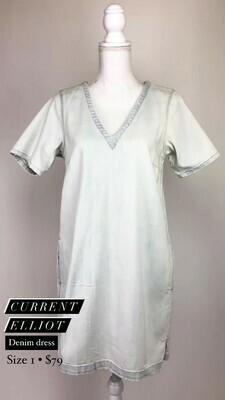 Current Elliot, Denim Dress, Size 1