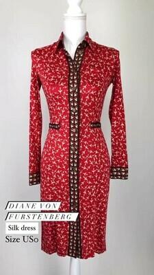 Diane Von Furstenberg, Silk Dress, Size US0