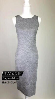Willow, Grey Wool Dress, Size S